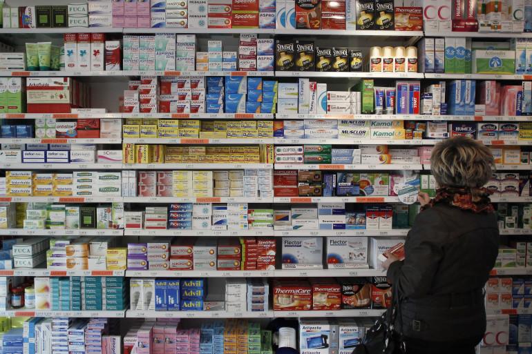 Une pharmacie, à Caen, le 16 novembre 2012