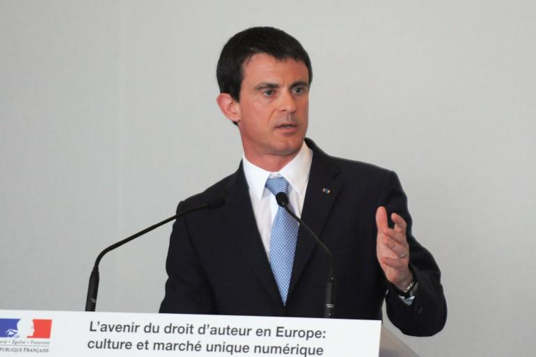 Manuel Valls à Cannes le 17 mai 2015