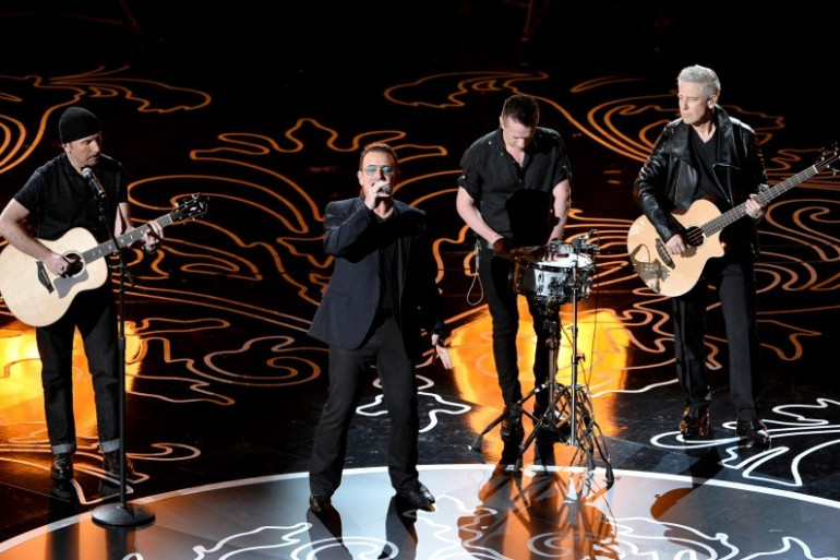 Le groupe U2 a chanté lors de la cérémonie des Oscars le 2 mars 2014