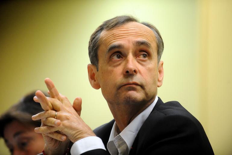 Robert Ménard lors d'une conférence à Toulouse le 18 mai 2015