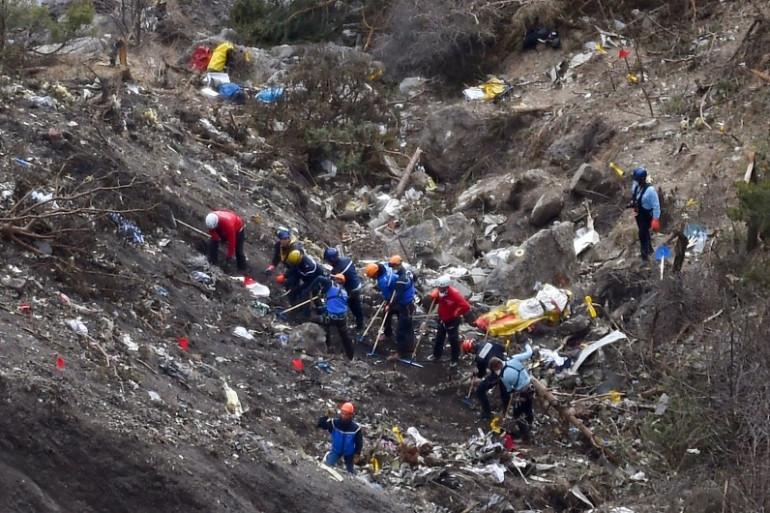 A320 de la Germanwings : des enquêteurs sur les lieux du crash le 26 mars 2015