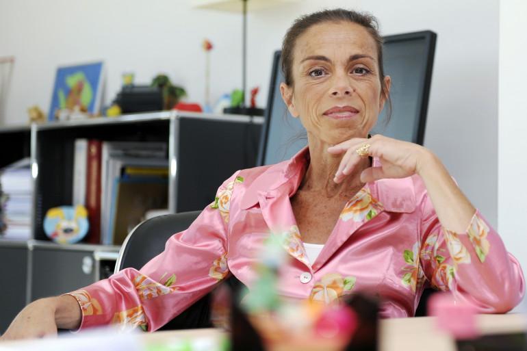 Agnès Saal dans les bureaux de l'Ina le 31 juillet 2014 (archives)