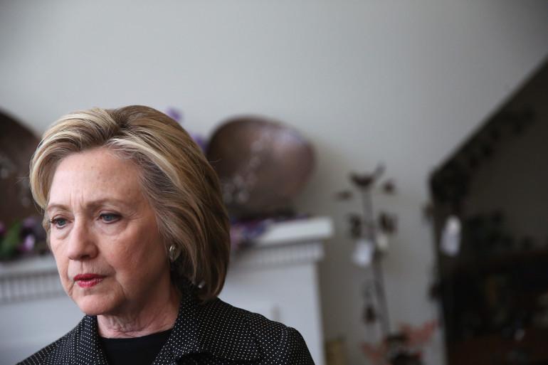 Hillary Clinton en déplacement de campagne dans l'État de l'Iowa