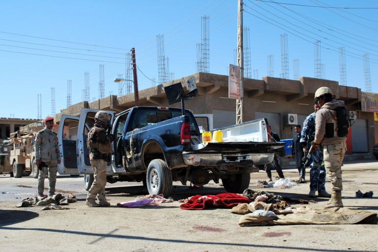 Des forces irakiennes à Haditha le 5 mars 2012 (archives)