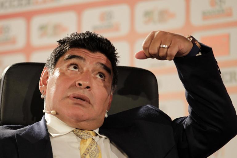 Diego Maradona le 4 mai 2015