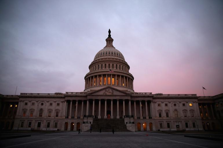 Le Capitole, qui abrite le Congrès américain à Washington DC, le 11 mars 2014 (archives).