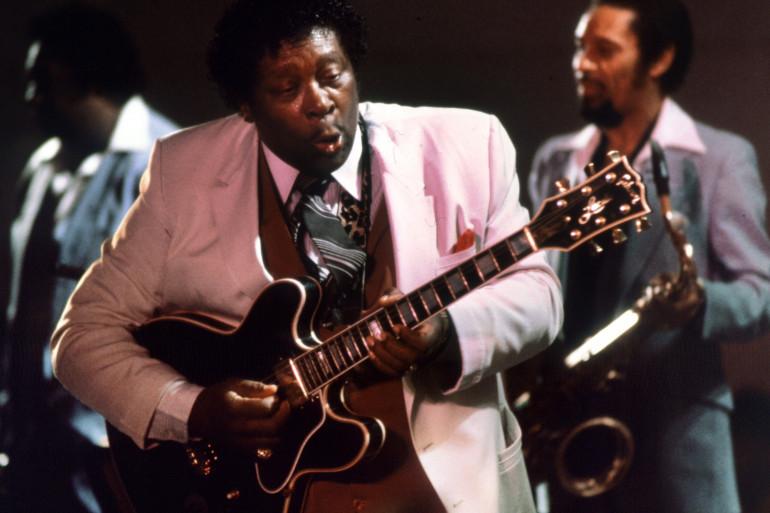 B.B King lors d'un concert à Stockholm en 1984