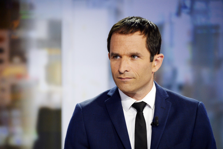 Benoît Hamon sur le plateau TV du JT de France 2, le 28 août 2014 (archives).
