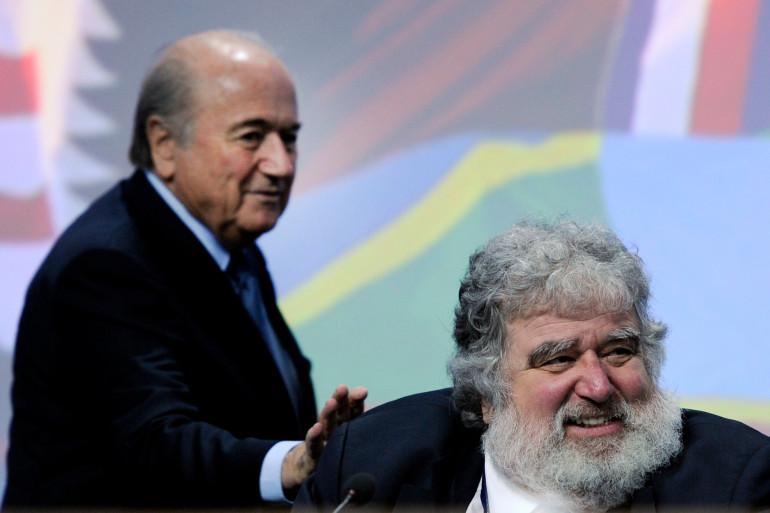 Sepp Blatter et Chuck Blazer (à droite) le 1er juin 2011 à Zurich (archive)
