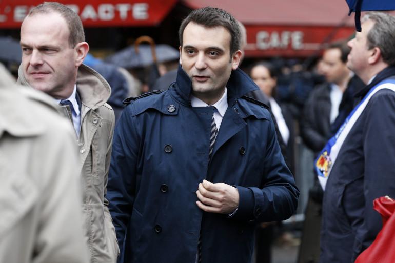 Florian Philippot, numéro 2 du FN, le 1er mai 2015 à Paris.