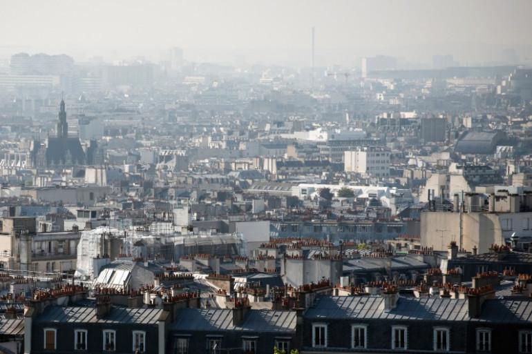 Des immeubles à Paris (illustration)