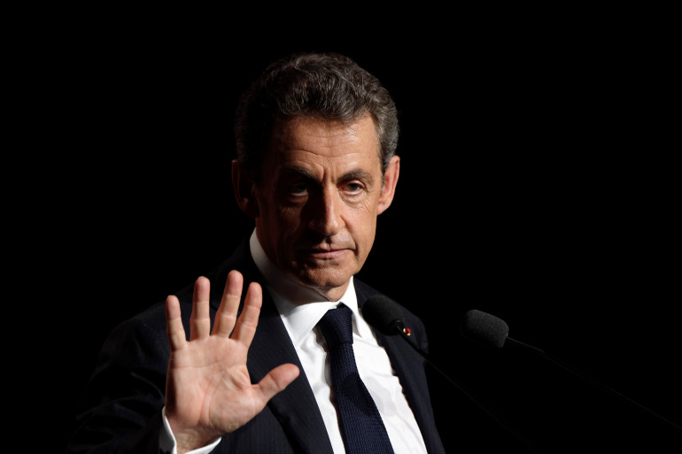 Nicolas Sarkozy en meeting à Asnières-sur-Seine (Hauts-de-Seine) le 3 juin 2015