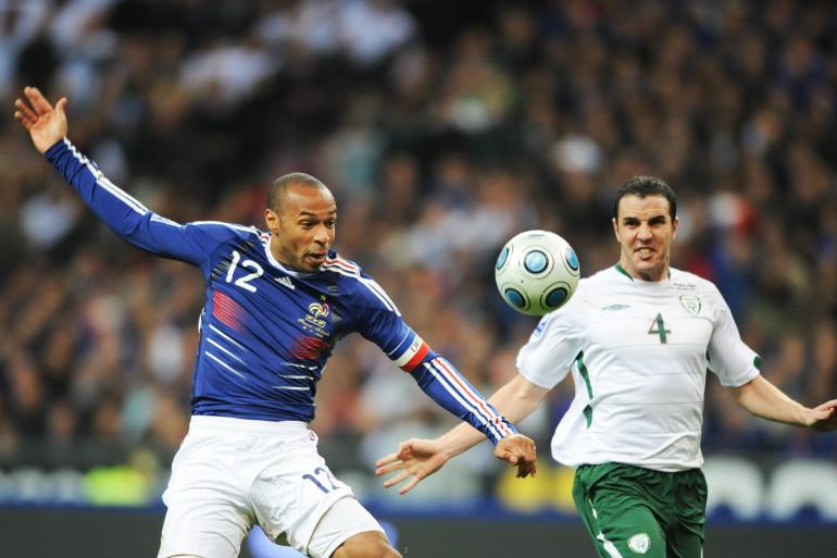 Thierry Henry lors de France-Irlande le 18 novembre 2009