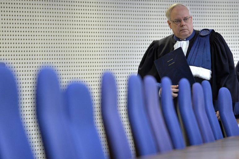 Le président de la Cour européenne des droits de l'homme, Dean Spielmann, le 23 avril 2015