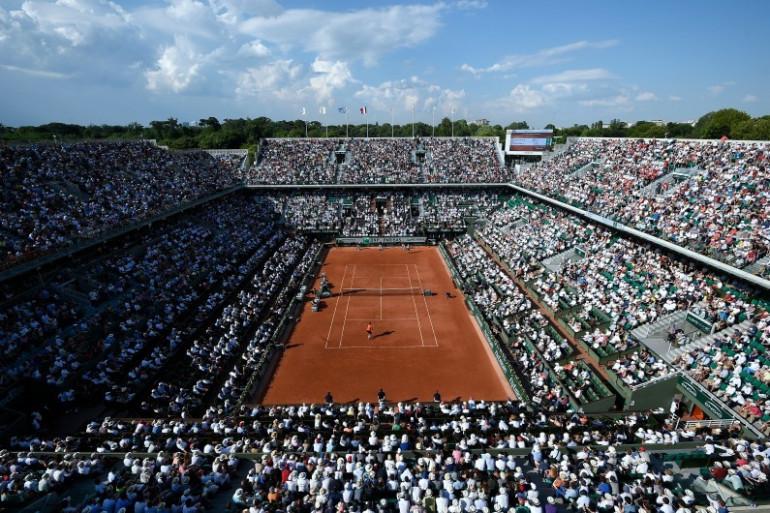 La vue du court Philippe-Chatrier à Roland-Garros