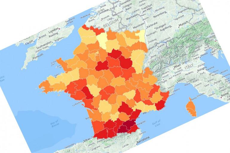Le Projet Voltaire a établi un classement du niveau d'orthographe dans les départements français