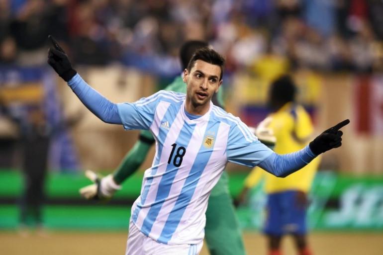 Javier Pastore sous les couleurs de l'Argentine contre l'Équateur, le 31 mars 2015