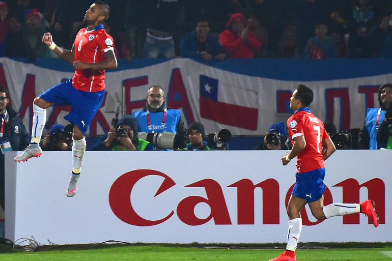 Arturo Vidal et Alexis Sanchez ont porté le Chili