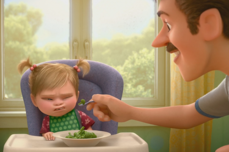 """""""Vice Versa"""" : Regardez comment les émotions réagissent face à des brocolis"""