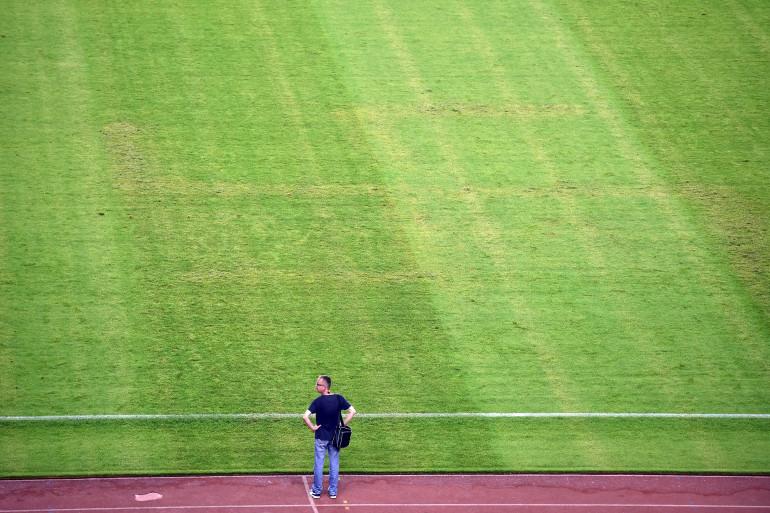 Visible durant la première moitié du match Croatie-Italie le 12 juin 2015 sur la pelouse du stade de Poljud, une croix gammée a été effacé à la mi-temps.