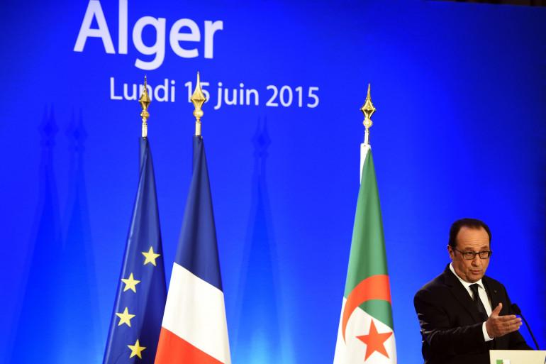 François Hollande à Alger, le 15 juin 2015