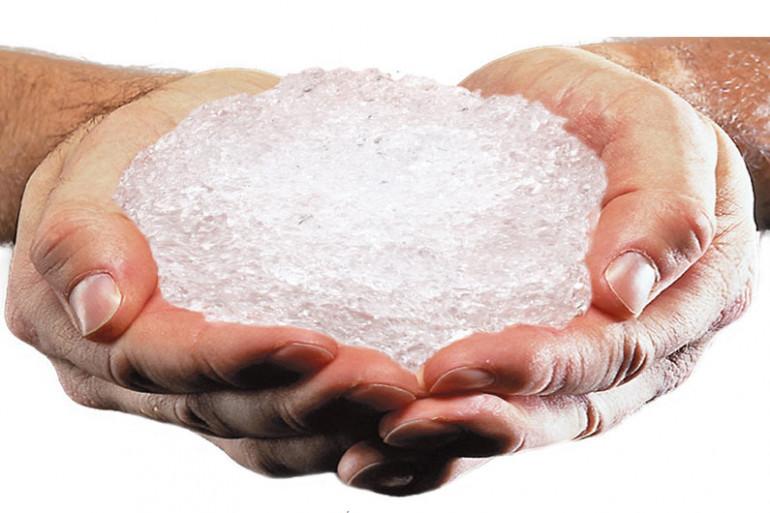 """La """"pluie solide"""" ressemble à du sucre."""