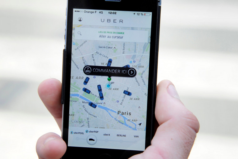 L'application Uber (illustration).