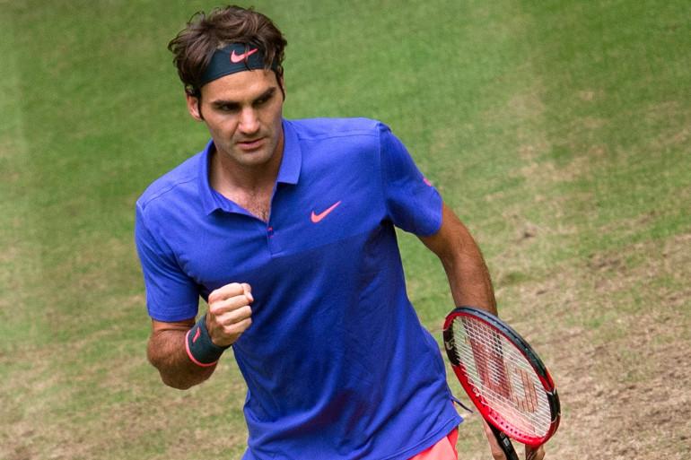 Roger Federer à Halle en Allemagne le 21 juin 2015.