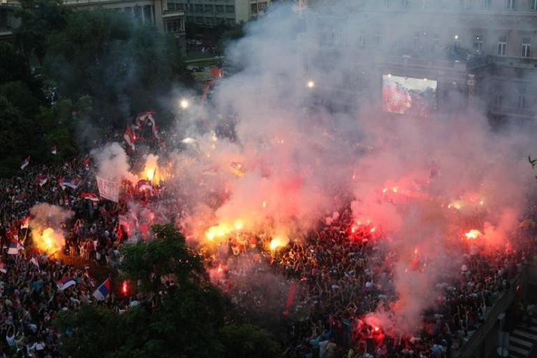 Belgrade en fête pour ses champions du monde