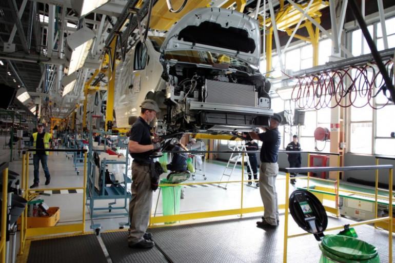 Une usine Renault à Sandouville, le 30 septembre 2014