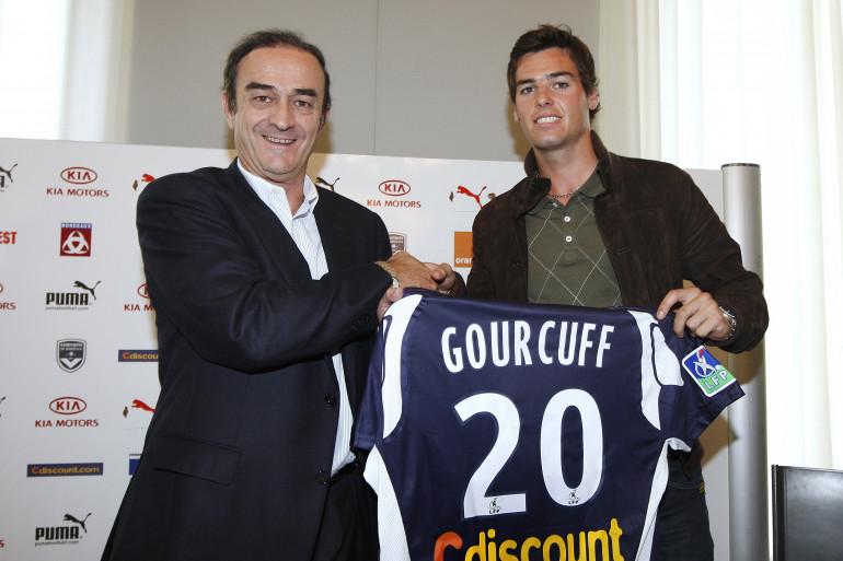 Jean-Louis Triaud et Yoann Gourcuff en juin 2008