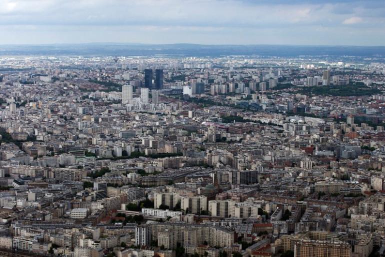 Une vue aérienne de Paris (illustration)