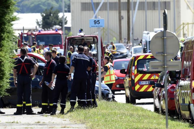 À Saint-Quentin-Fallavier en Isère, Yassin Salhi est suspecté d'avoir commis un attentat dans l'usine Air Products, vendredi 26 juin 2015.