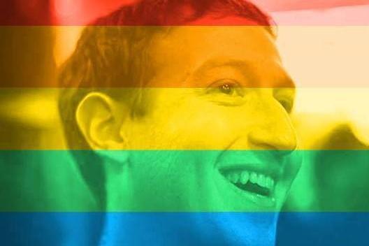 Le fondateur et PDG de Facebook Mark Zuckerberg s'est mis aux couleurs de l'arc-en-ciel pour saluer la décision de la Cour Suprême américaine de valider le mariage gay dans tous les États des États-Unis.