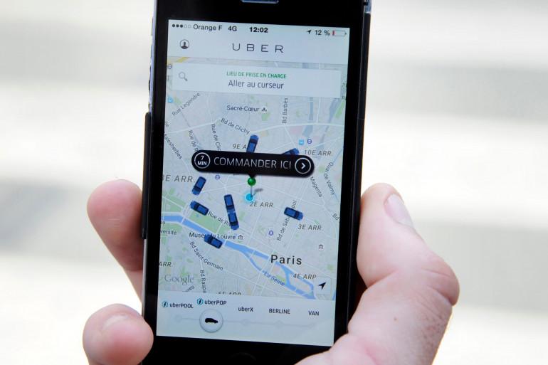 L'application Uber en France (illustration).