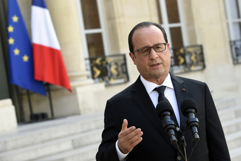 François Hollande a tenu une conférence de presse après un conseil de défense à l'Elysée (Illustration)