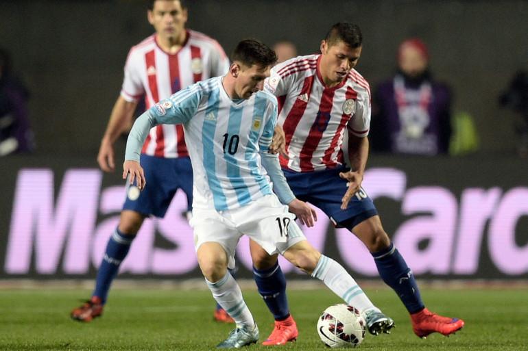 Lionel Messi lors de la demi-finale Argentine-Paraguay, le 1er juillet 2015