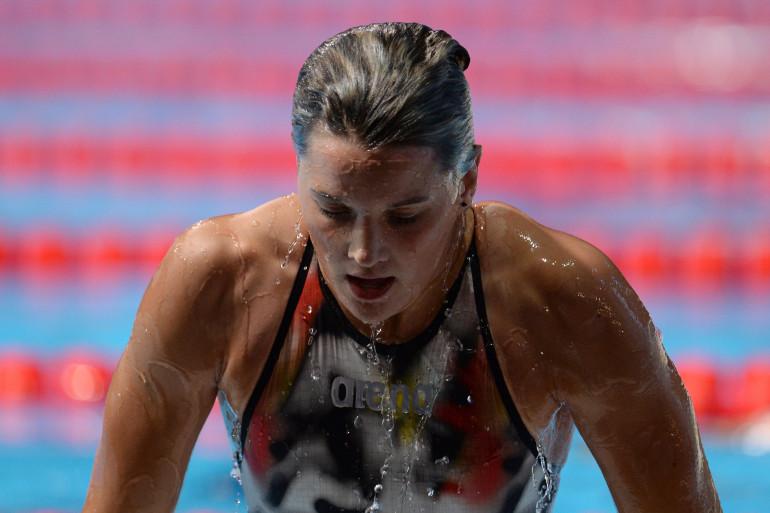Mélanie Henique, au championnats du monde de natation de Barcelone, en 2013