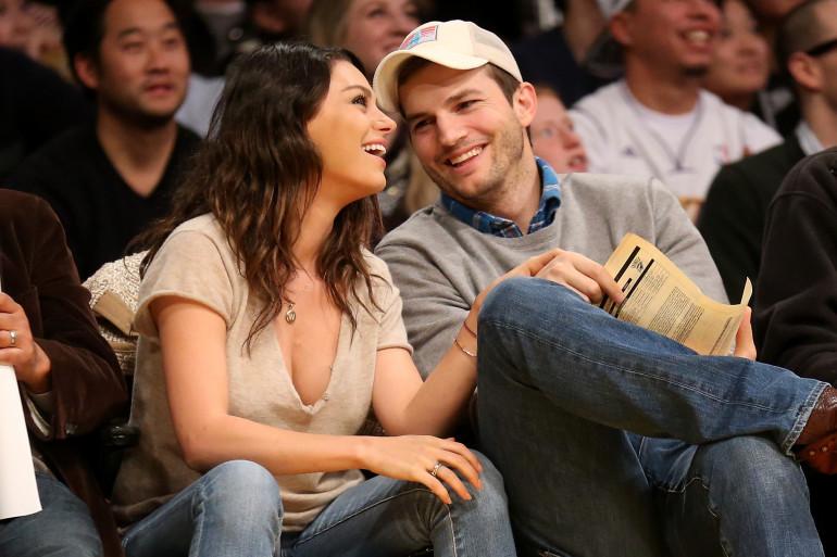 Ashton Kutcher et Mila Kunis en décembre 2014 à Los Angeles