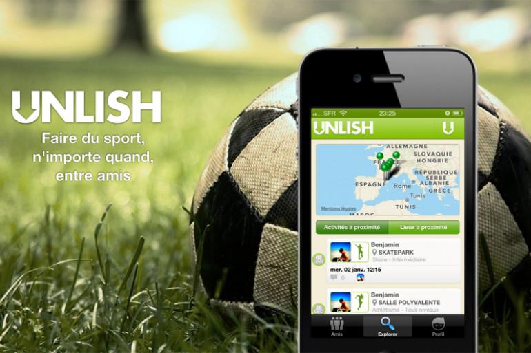 """""""Unlish"""", l'application pour des rencontres sportives"""
