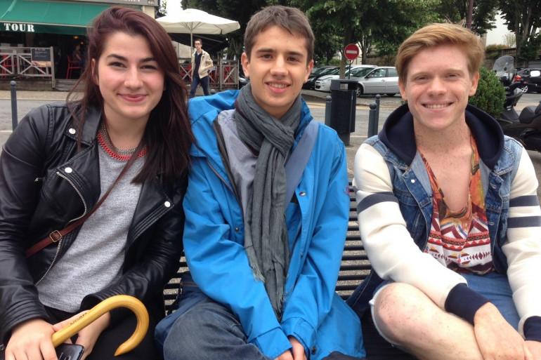 Antoine Prouff et deux de ses camarades