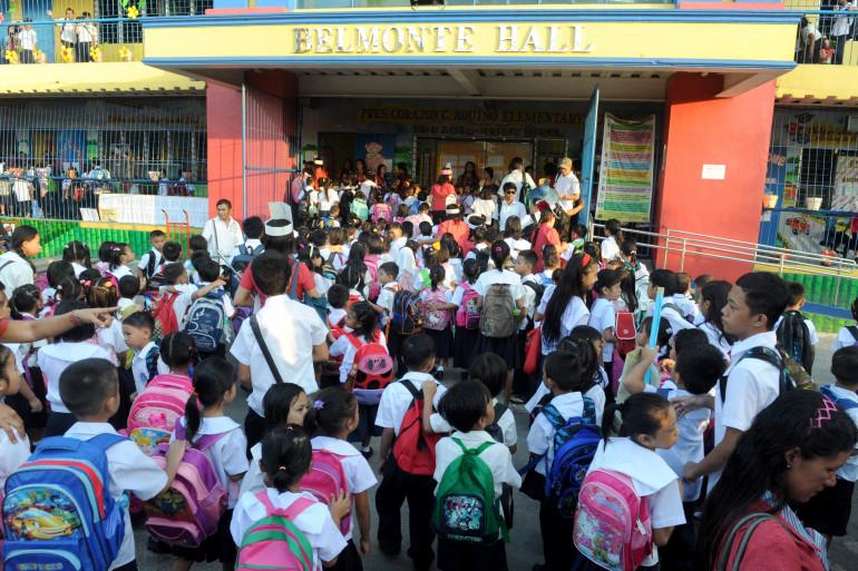 Une école à Manille, aux Philippines, le 2 juin 2014 (Illustration)
