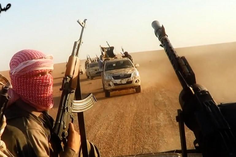 Une capture d'écran d'une vidéo de l'État islamique à Tikrit, en Irak, en juin 2014.