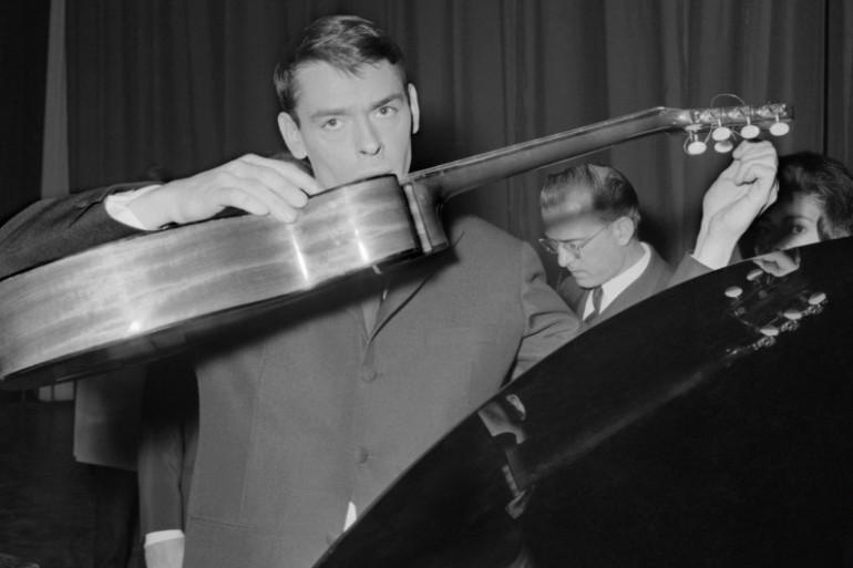 Jacques Brel à l'Olympia en 1963