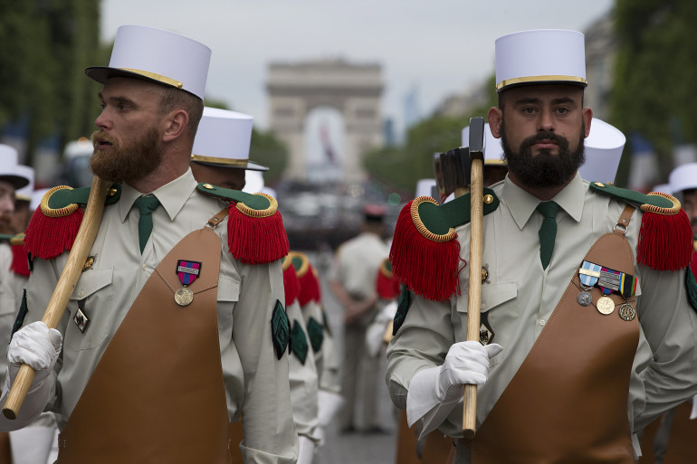 Les pionniers de la Légion étrangère faisaient évidemment partie du cortège