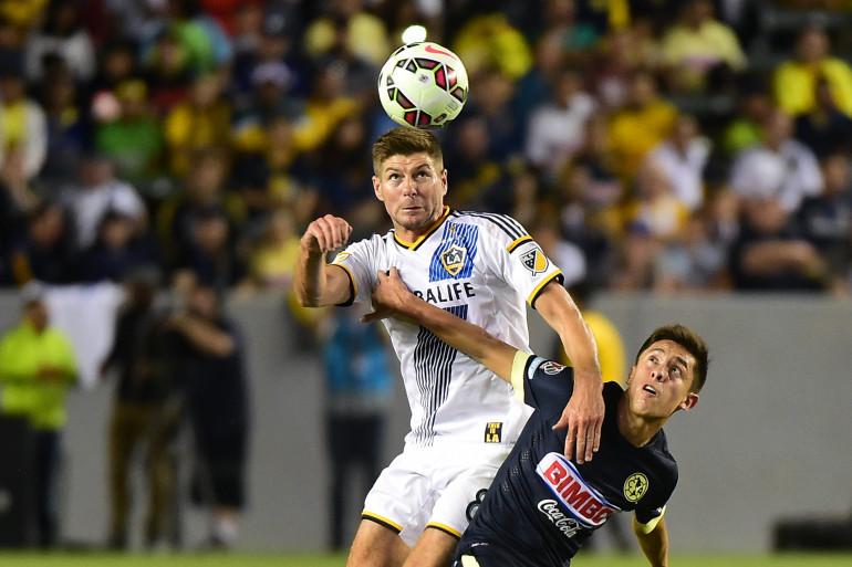 Steven Gerrad sous les couleurs du Los Angeles Galaxy le 11 juillet 2015