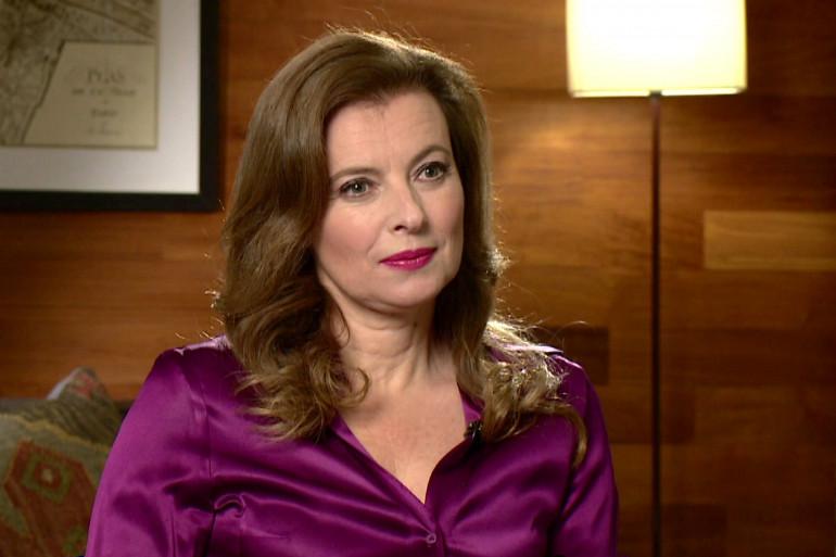 Valérie Trierweiler lors de son interview à la BBC le 23 novembre 2014 (archive).