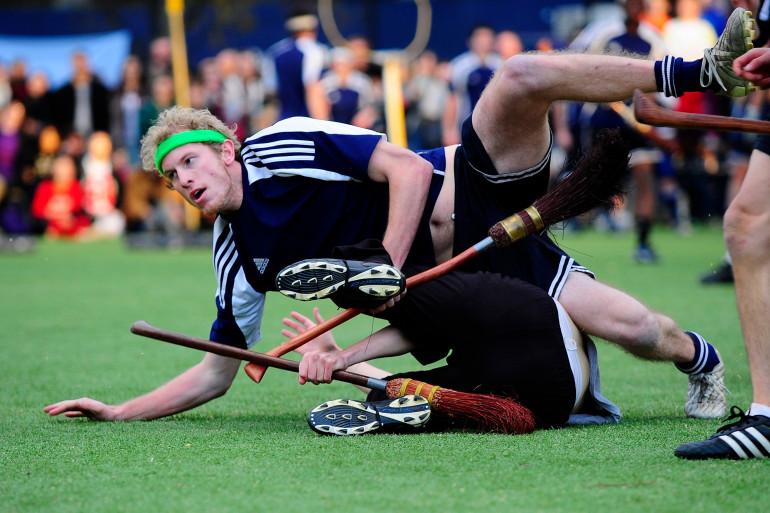 Un match de Quidditch aux États-Unis, en 2010