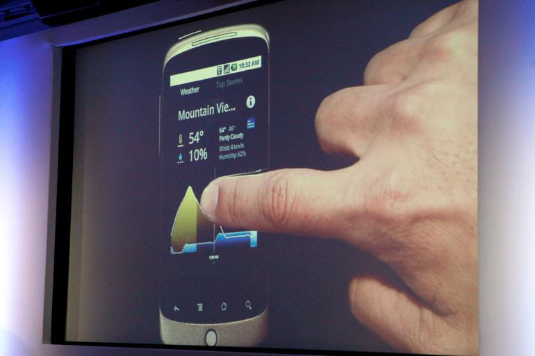 La présentation du Nexus One lors d'une conférence au siège de Google, en 2010 (illustration)