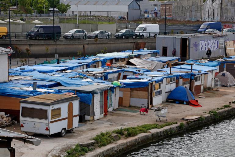 Un bidonville en région parisienne, le 9 mai 2013. (Illustration)
